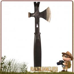 Hachette Rothco de survie avec bien sûr sa lame tranchante, mais en plus un solide marteau et un pied de biche