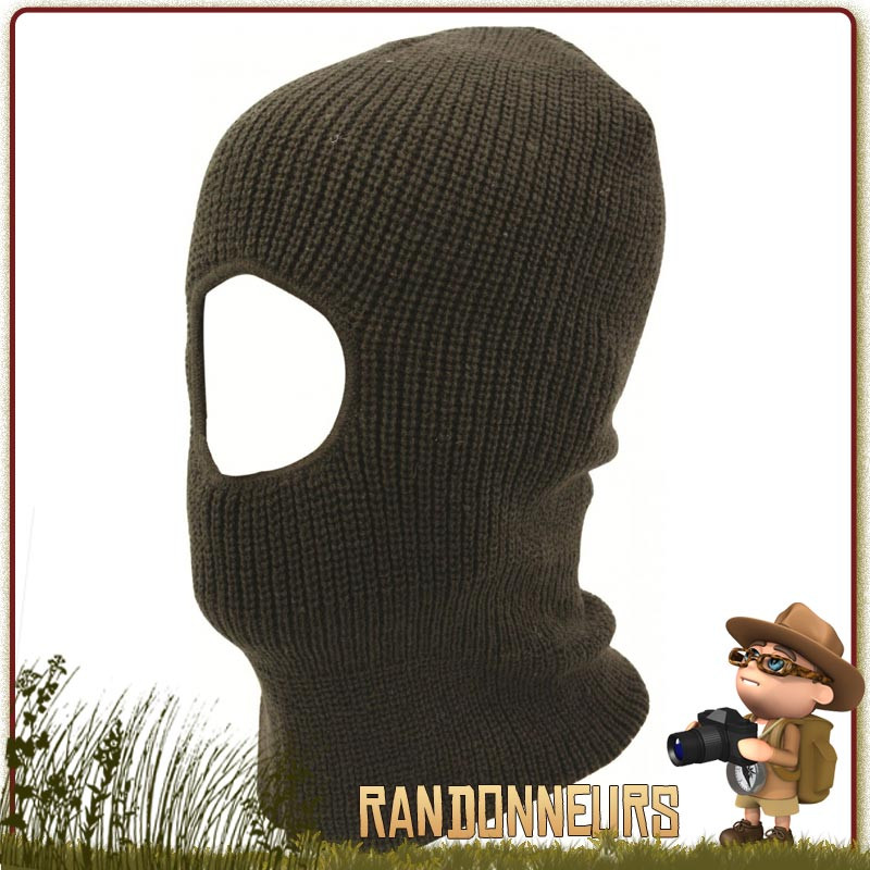 Balaclava Open Face Vert Olive Highlander militaire chasse bushcraft