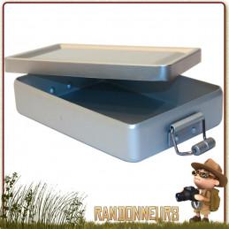 Boite étanche aluminium avec joint d'étanchéité idéale pour la protection de votre kit de survie et effets personnels