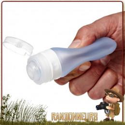 bouteille souple Travel GoToob 100 ml Humangear ultra légère pour le transport en voyage randonnée produits cosmétiques