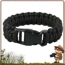 Bracelet Paracorde nylon 550 BCB 300 cm avec boucle de survie