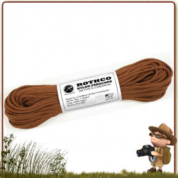 Paracord 550 de 30 metres CHOCOLATE BROWN Rothco