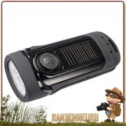 Lampe Torche Solaire Dynamo BARRACUDA de Power Plus, robuste et étanche