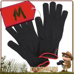 Gants thermiques Finger Touch Arva en tissu merino compatible avec écrans tactiles garder les mains au chaud