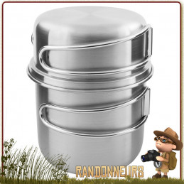 Set Pot Inox 500 ml Tatonka handle mug 50cl randonnee bushcraft