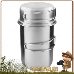 popote bushcraft inox pot handle 85 cl tatonka cuisson feu de bois