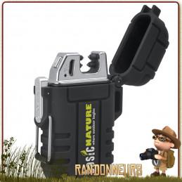 Briquet Tempête étanche Arc USB  est un briquet tempête puissant sur batterie rechargeable pour générer un arc électrique