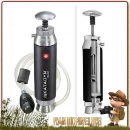 filtre katadyn pocket portable pour la filtration de l'eau potable en trek en groupe de randonneurs, robuste efficace