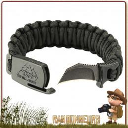 Bracelet Paracorde de Survie ParaClaw Outdoor Edge complet avec couteau bushcraft intégré