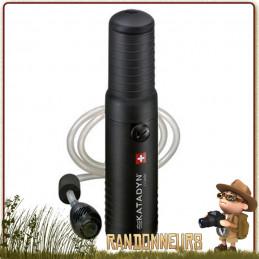 filtre katadyn combi portable pour la filtration de l'eau potable en trek par cartouche céramique et charbon actif