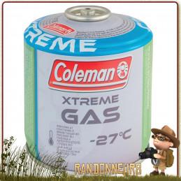 Cartouche 230g C300 Xtrem Coleman pour rechaud gaz randonnee trekking en utilisation temperature negative hiver par grand froid