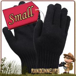Paire de Gants Laine Noir Rothco - Taille SMALL - Gants militaire Rothco 70% laine et 30% nylon à la fois chauds et résistants