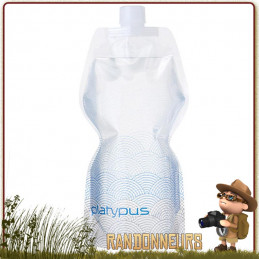 platypus Gourde randonnée légère soft bottle platypus en plastique souple pliante ultra light pour randonner