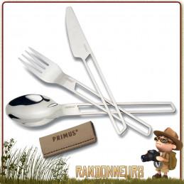 Set de Couverts CampFire Primus couverts de camping Primus Couteau, Cuillère et Fourchette acier inoxydable de qualité