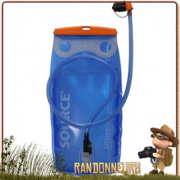 Poche Hydratation Source WIDEPAC 2 Litres. Réservoir hydratation Widepac Source pour sacs à dos, léger facilement nettoyable