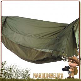 hamac moustiquaire jungle commando militaire rothco en toile coton avec tarp étanche contre la pluie
