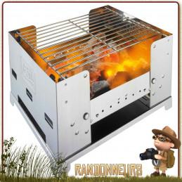 grill pliant tout inox Esbit BBQ BOX est un grand barbecue portable pour les bivouacs nomade