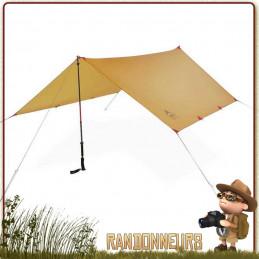 MSR, le choix des accessoires pour tente randonnée légère MSR, Tarp Abri THRU HIKER 70 Wing
