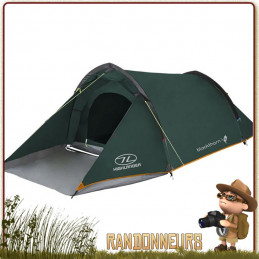 Tente Blackthorn 2 Highlander, une 2 places 3 trois saisons profilée pour tenue au vent, large ouverture avec abside