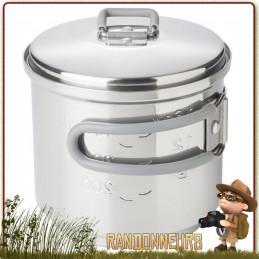 Popote Gamelle en acier inoxydable Esbit de 625 ml. Robuste et légère, ce pot inox Esbit est compact et robuste en bushcraft