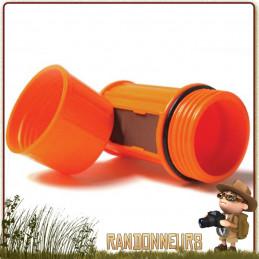 Boite étanche et robuste, en plastique, avec grattoir intégré, pour allumettes de survie tout temps Uco Gear