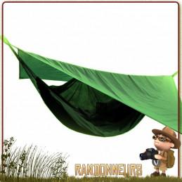 Hamac Randonnée Nomade TRAVELSAFE avec moustiquaire intégrée et tarp de protection