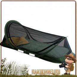 tente pop up abri moustiquaire dôme travelsafe une personne pour lit de camp ou bivouac survie jungle militaire