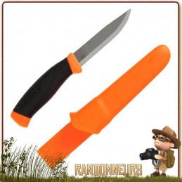 Couteau bushcraft Mora COMPANION F, autant de polyvalence dans un seul couteau MORA survie