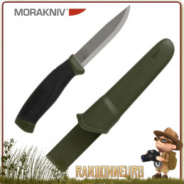 Couteau bushcraft Mora COMPANION MG lame acier inox tranchante pour la survie