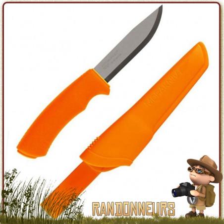 Poignard Bushcraft Mora Orange