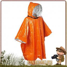 poncho de survie extrême de SOL est un poncho de protection isothermique contre les éléments (froid, vent, pluie)