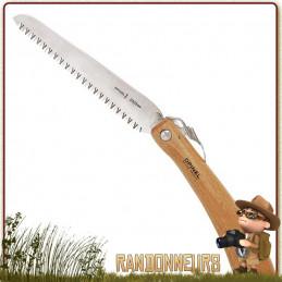 Scie portable manche bois de hêtre Opinel n°18 lame acier inox sandvik. Scie portable pliante Opinel 40 cm (lame de 18 cm)