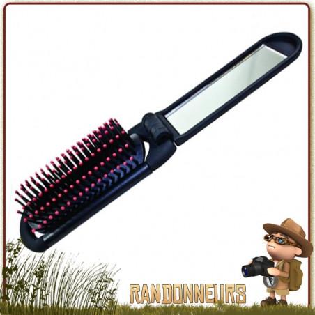 Brosse à Cheveux Pliante avec Miroir CAO