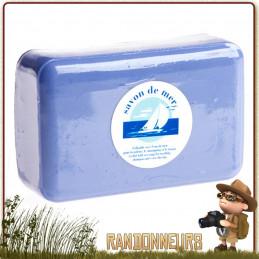 Bloc de Savon de mer, concentré pour l'hygiène corporelle et le shampoing avec de l'eau salée ou de l'eau douce.