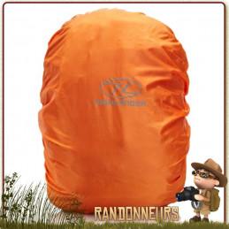 Couvre Sac à Dos 60 à 70 Litres Étanche Orange Highlander protection de votre sac à dos par mauvais temps
