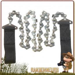 scie chaine à mains peut presque tout couper grâce sa chaine de coupe bi-directionnelle et dents coniques