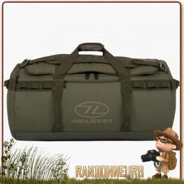 Sac transport militaire étanche Duffle Bag Storm KitBag 90L Vert Highlander résistant