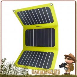 Chargeur Solaire PTFLAP Dual 16W SunPower Powertec sortie 5V en USB comme 12V sur 2300 et 1000 mAh ultra léger