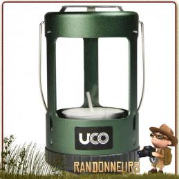 Mini Lanterne Compacte Verte UCO randonnée et bushcraft. Lumière naturelle de 15 lumens à la bougie