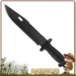 Poignard de survie avec manche ABS Noir. Le poignard Herbertz propose une lame acier 4820 satinée de 18 cm