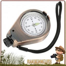 Boussole de navigation et d'orientation, la boussole avec viseur Herbertz propose un large cadran très lisible sur bain d'huile