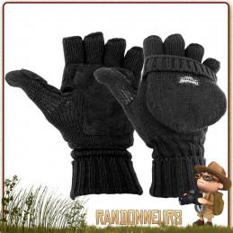 Gants Mitaines Thinsulate, à la fois gants et mitaines, pour garder les mains au chaud Revêtement grip suédine