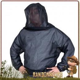 Veste moustiquaire en tulle fin assurant la protection des moustiques et des moucherons travelsafe