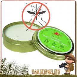 Bougie à combustion Longue Durée Anti Moustiques (20 heures par bougie) et répulsifs anti-insectes à base de géraniol