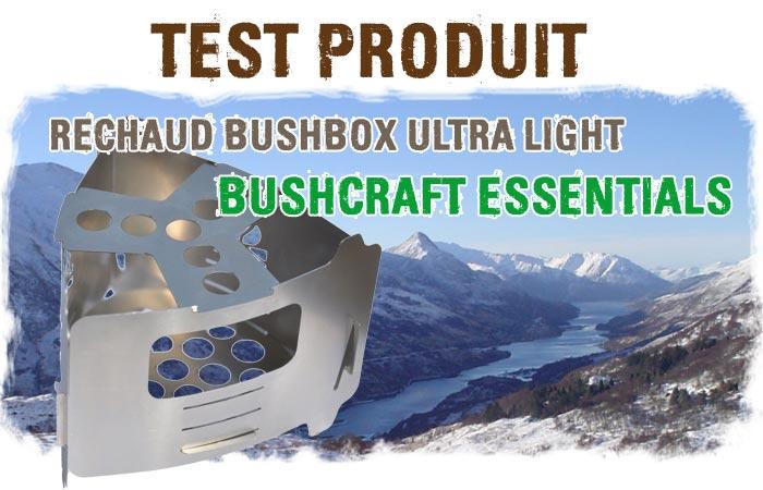 réchaud à bois bushcraft ultra léger