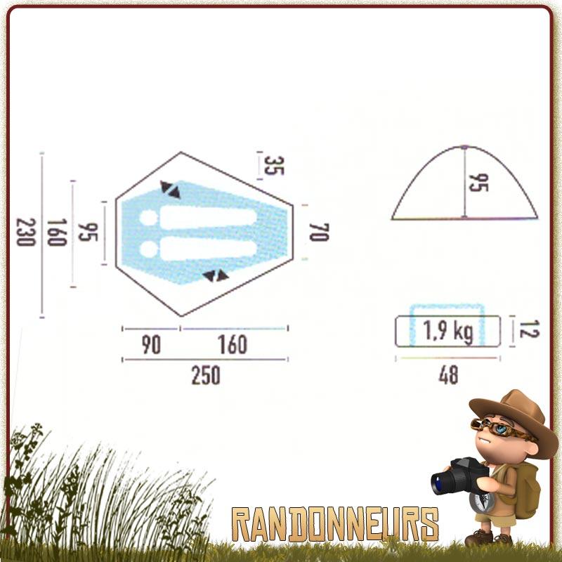 Tente randonnée ultra légère JAMET, comparer les tentes JAMET pour choisir au meilleur prix votre tente JAMET